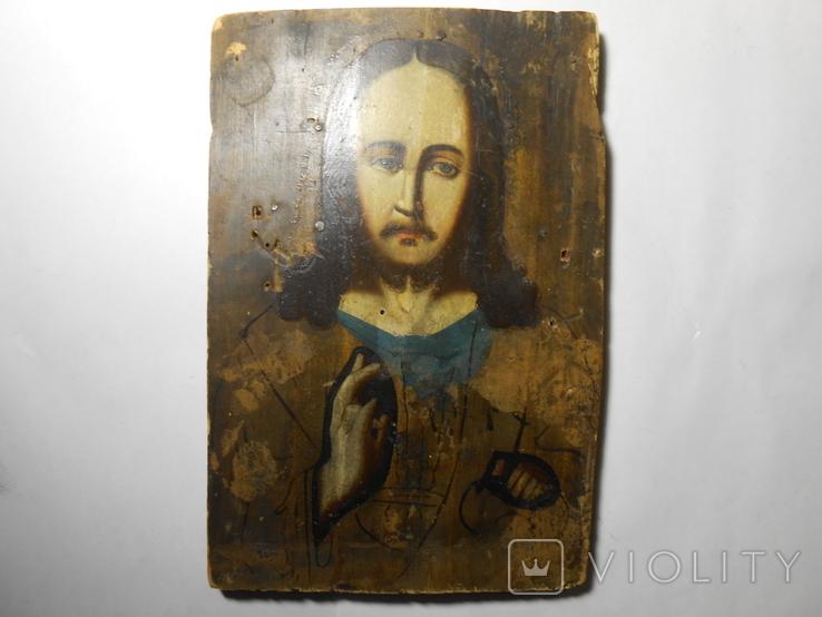 Икона Вседержитель старая 21,7х15х1,4, фото №2