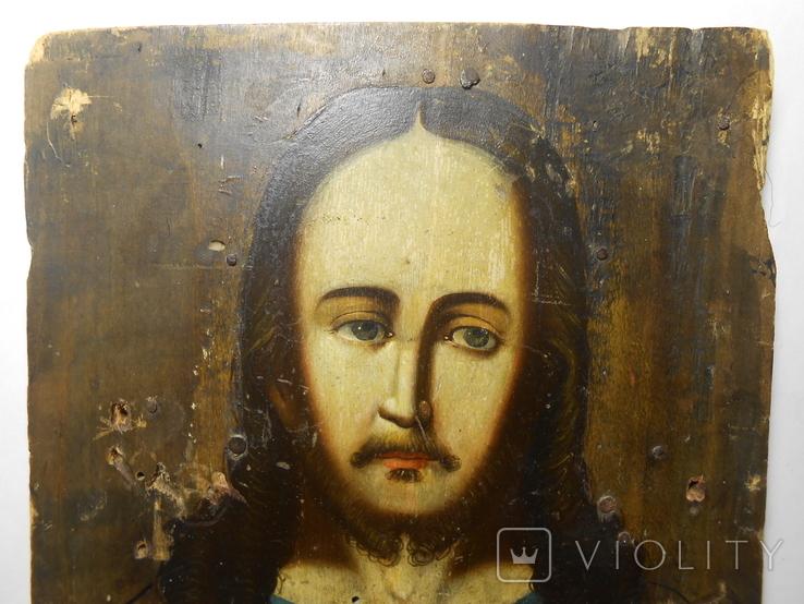 Икона Вседержитель старая 21,7х15х1,4, фото №4