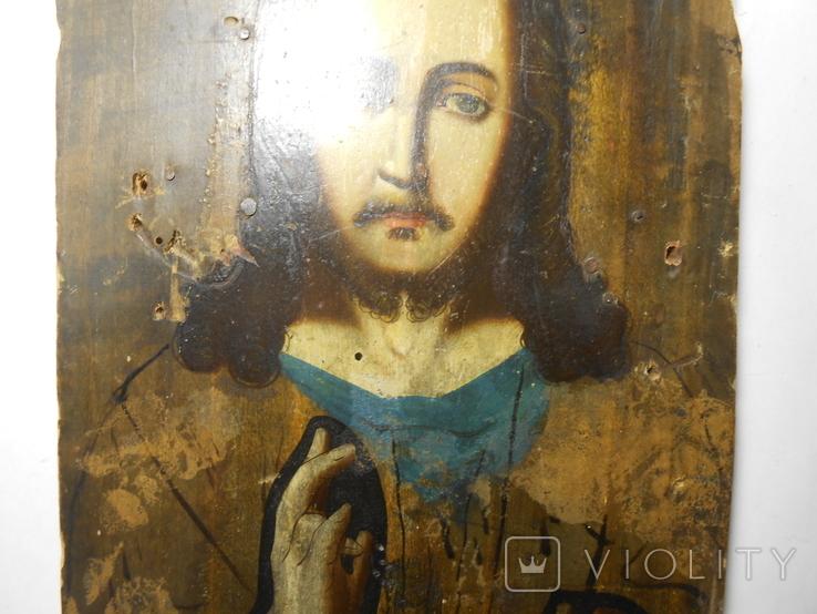 Икона Вседержитель старая 21,7х15х1,4, фото №5
