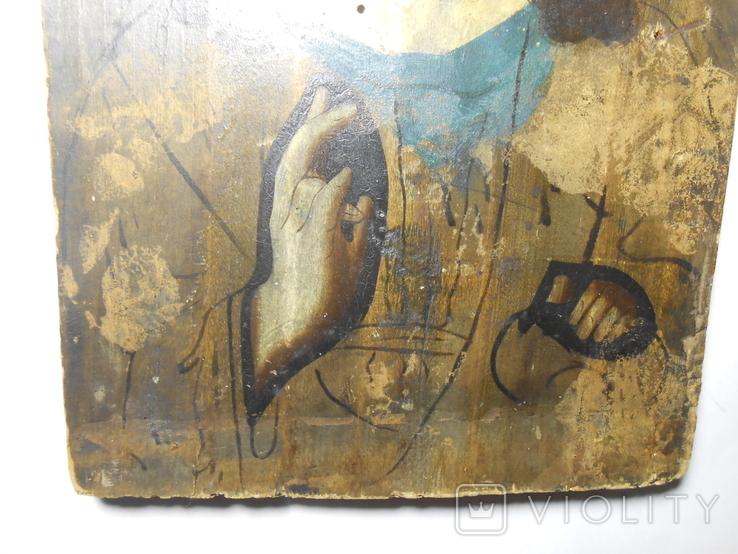 Икона Вседержитель старая 21,7х15х1,4, фото №6