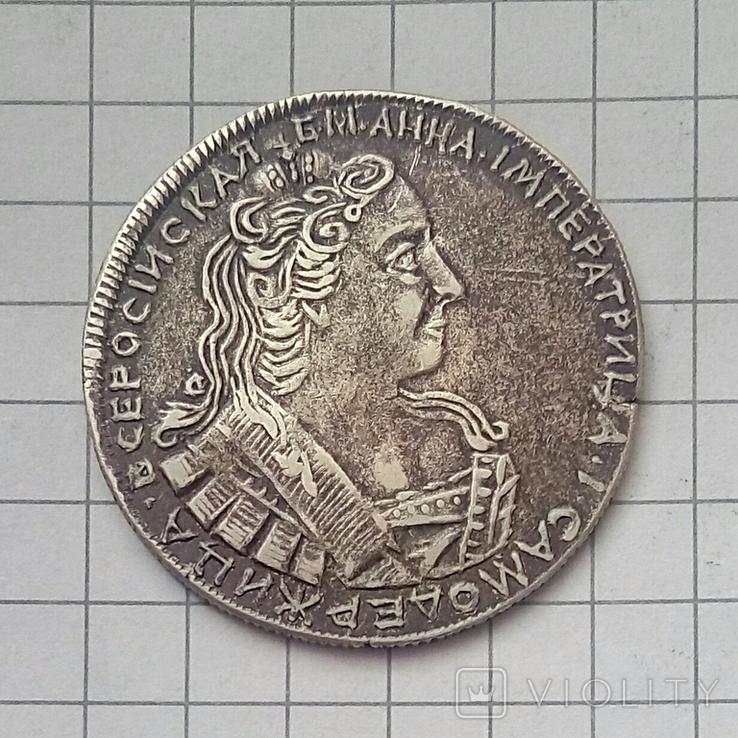 Полуполтинник 1730 года ( копия из серебра ), фото №2