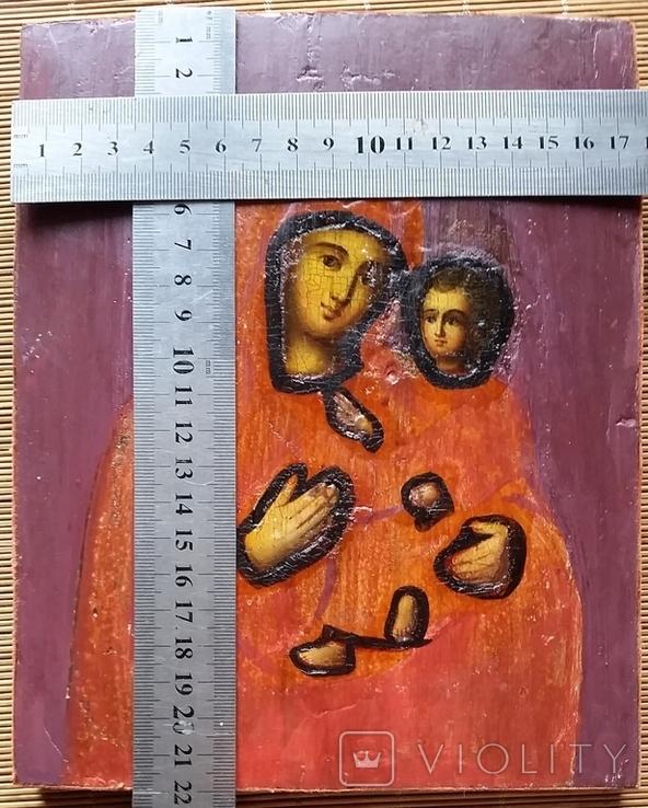 Ікона Тихвінська Богородиця, 22,0х17,7 см, фото №2