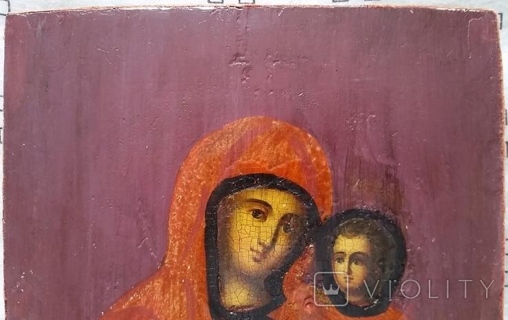 Ікона Тихвінська Богородиця, 22,0х17,7 см, фото №4