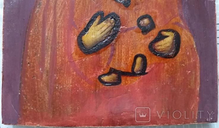 Ікона Тихвінська Богородиця, 22,0х17,7 см, фото №6