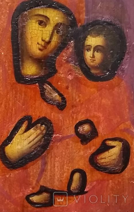Ікона Тихвінська Богородиця, 22,0х17,7 см, фото №7