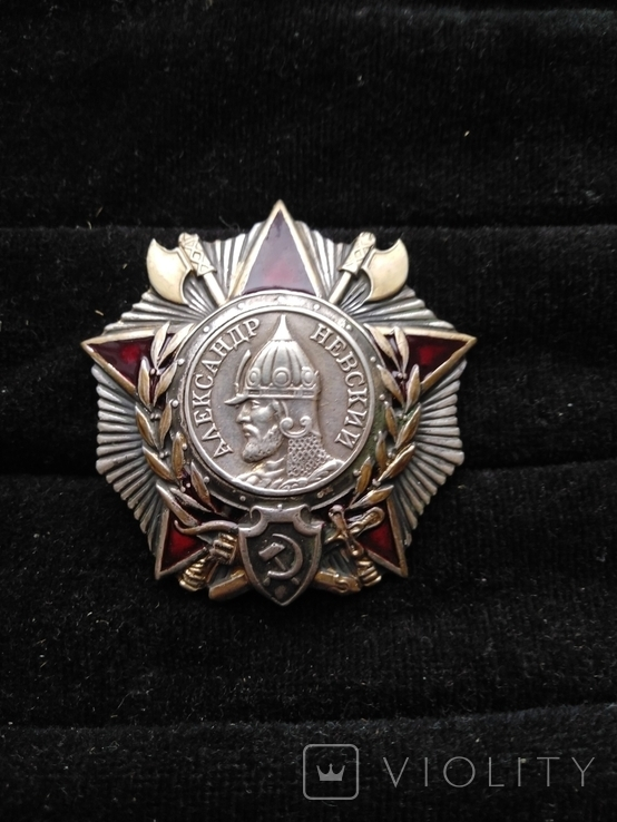 Орден Александра Невского, серебро, копия, фото №3
