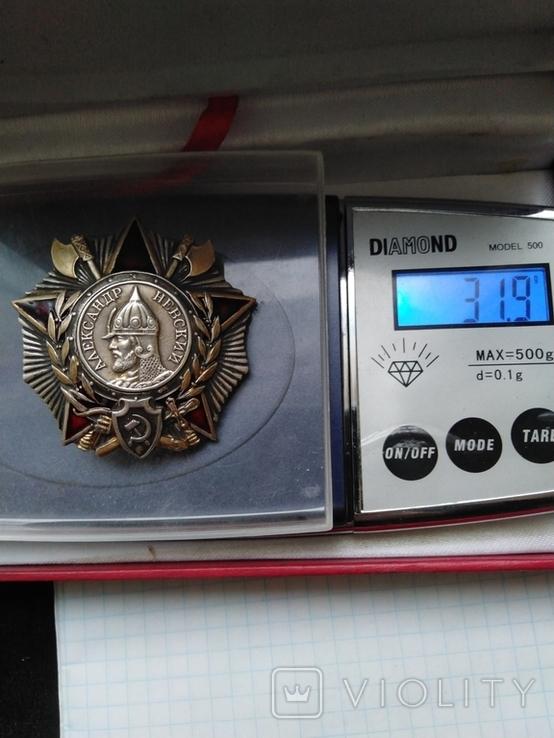 Орден Александра Невского, серебро, копия, фото №9