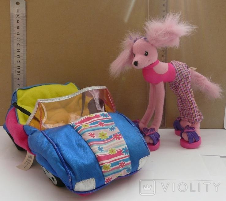 Машинка з собакою для барбі Barbie MATTEL 2002 EL SEGUNDO, фото №2