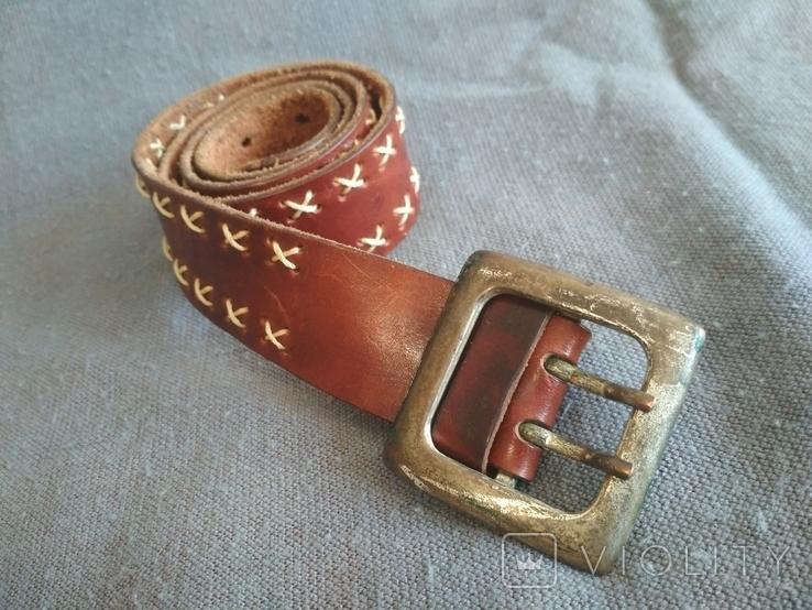 Ремень кожаный Голландия пояс кожа натуральная, фото №2