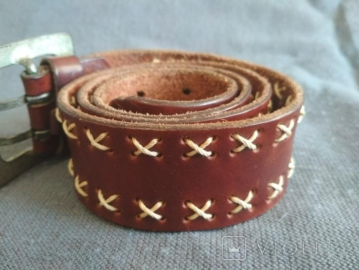 Ремень кожаный Голландия пояс кожа натуральная, фото №4