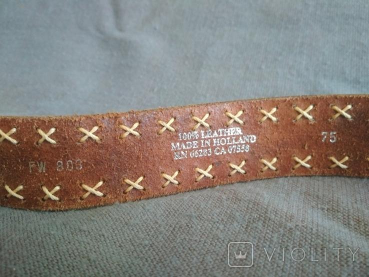 Ремень кожаный Голландия пояс кожа натуральная, фото №6