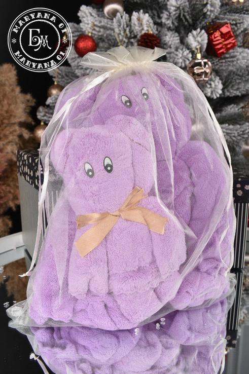 Подарочный набор полотенец / фиолетовый, фото №2