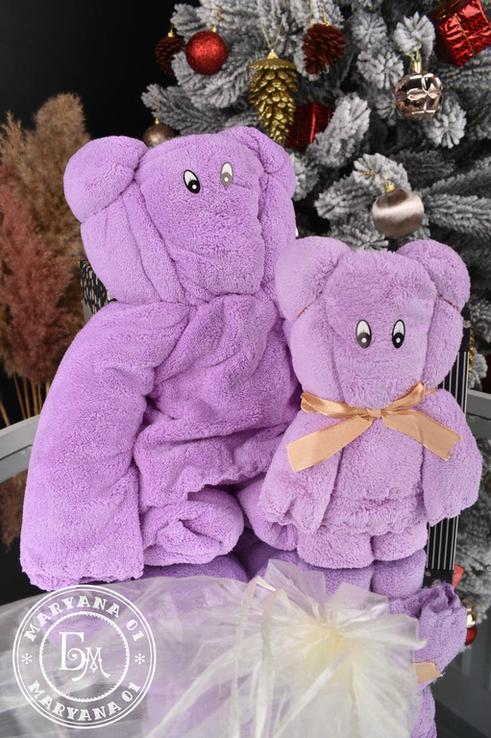 Подарочный набор полотенец / фиолетовый, фото №6