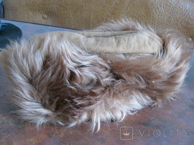 Зимння шапка з лами Монголія 50-70 років, фото №3