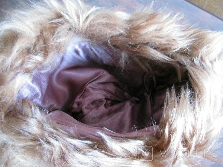 Зимння шапка з лами Монголія 50-70 років, фото №6