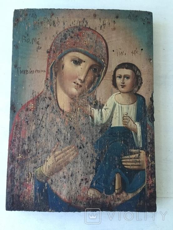 Божья матерь Тихвинская - 23,5х16,7 см., фото №2