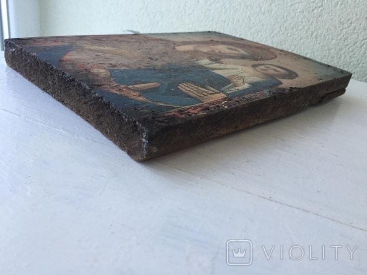 Божья матерь Тихвинская - 23,5х16,7 см., фото №6