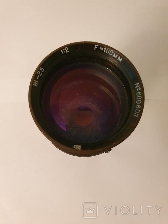 Объектив Ж-25, 1:2, f100mm, редкий, №600603, фото №3
