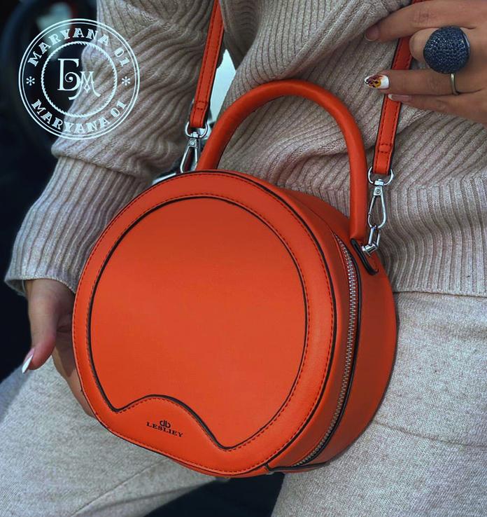 Стильная круглая сумочка-клатч Lesliey red / красный, фото №2
