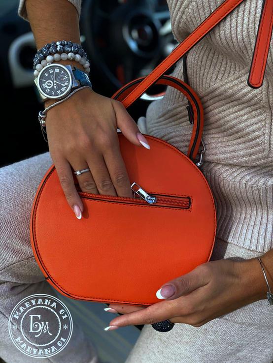 Стильная круглая сумочка-клатч Lesliey red / красный, фото №7