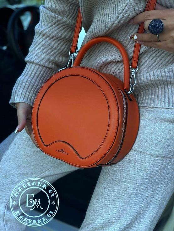 Стильная круглая сумочка-клатч Lesliey red / красный, фото №9