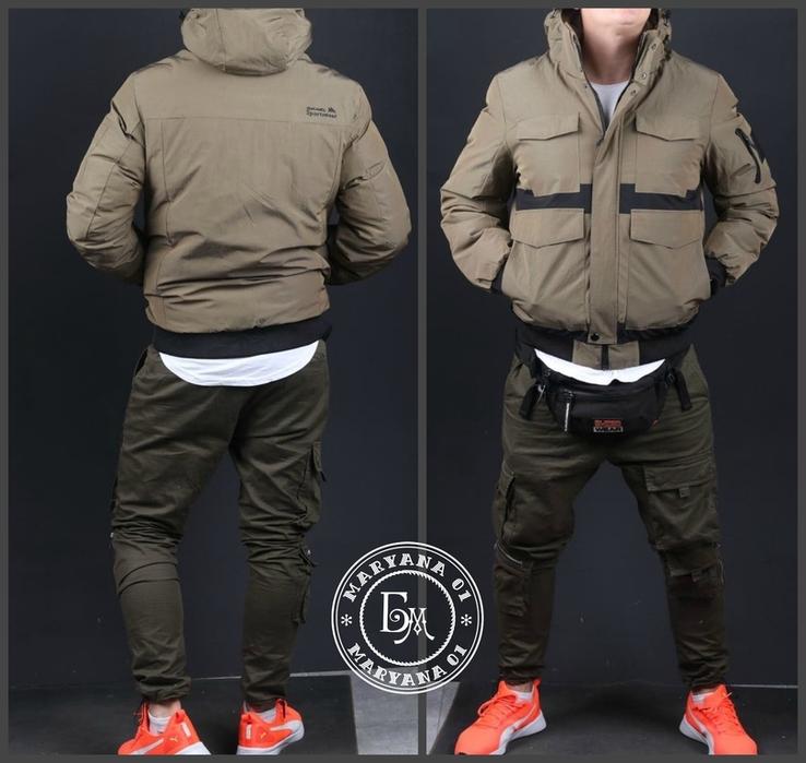 Стильная зимняя куртка размер M / песочный, фото №2