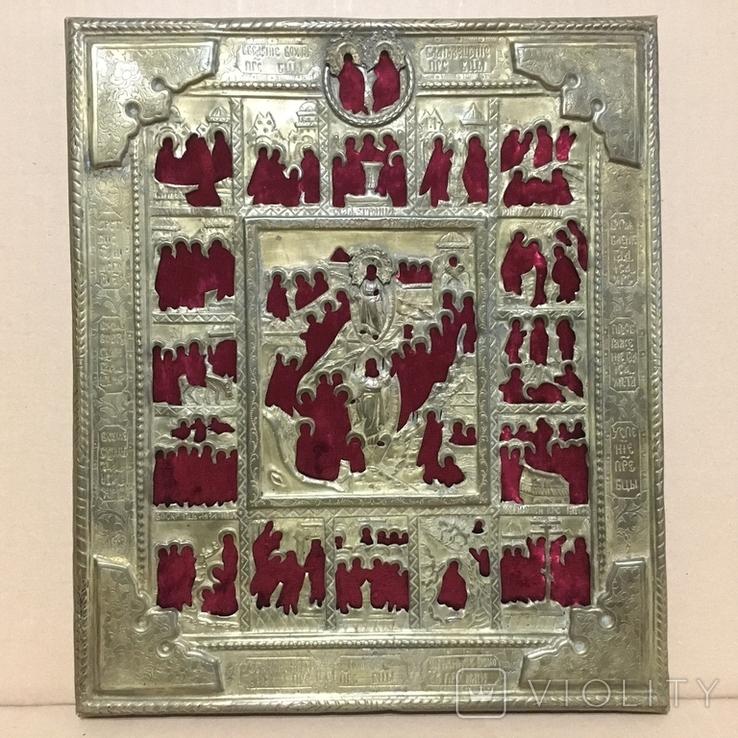 Старинный оклад на икону, фото №2