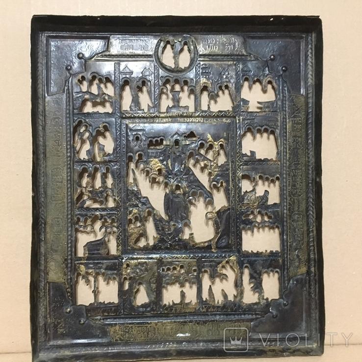 Старинный оклад на икону, фото №4
