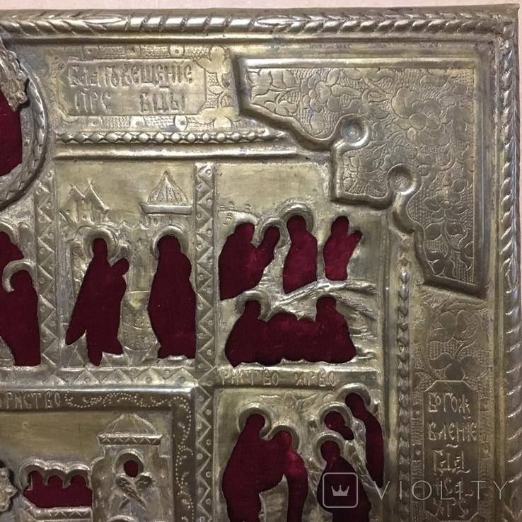 Старинный оклад на икону, фото №9
