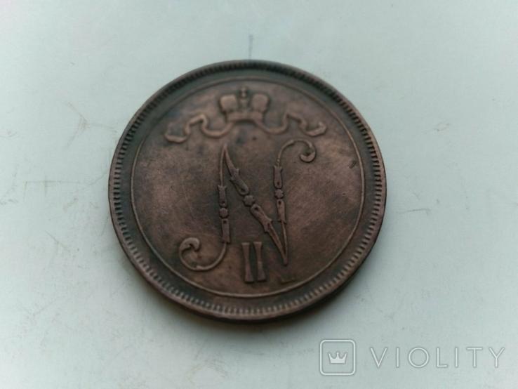 10 пенні 1899 Фінляндія, фото №4