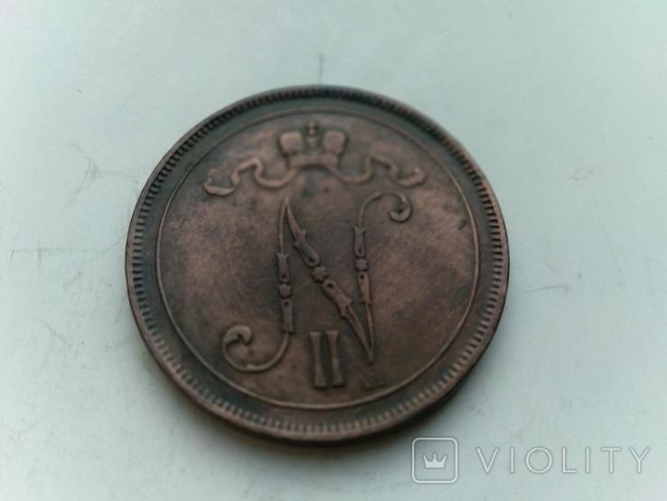 10 пенні 1899 Фінляндія, фото №5