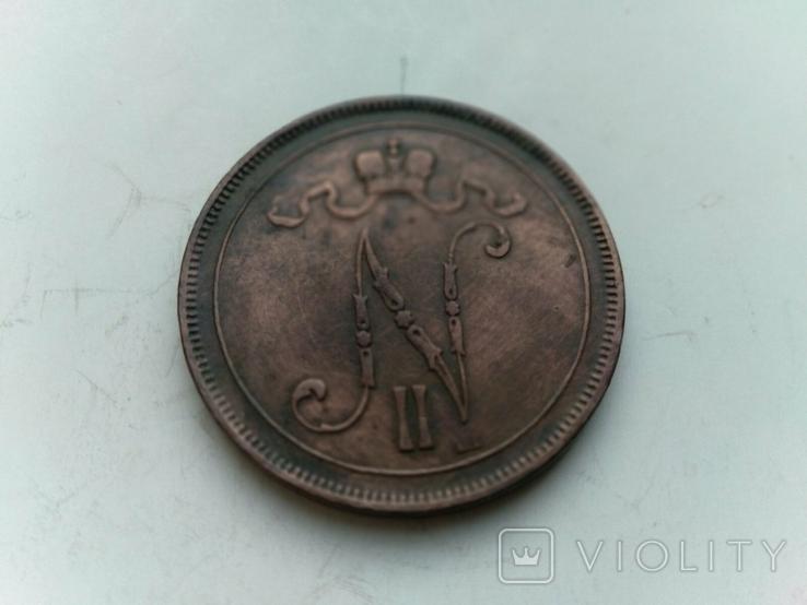 10 пенні 1899 Фінляндія, фото №6