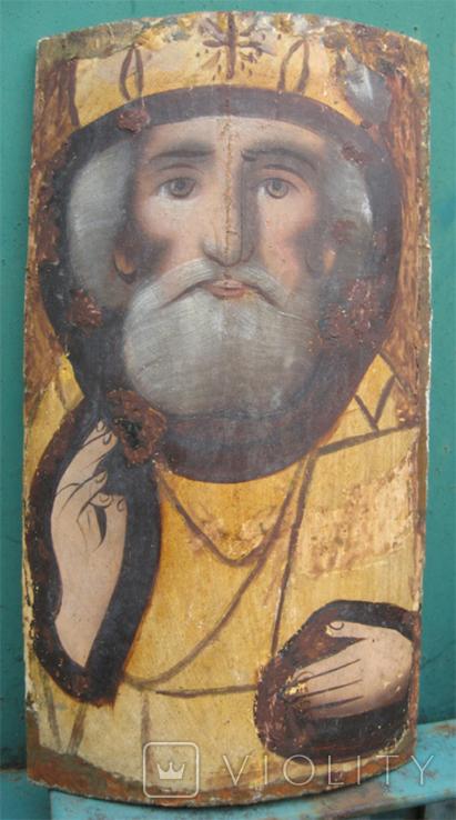 Cв. Николай, 22х12 см, сосновая доска, фото №2