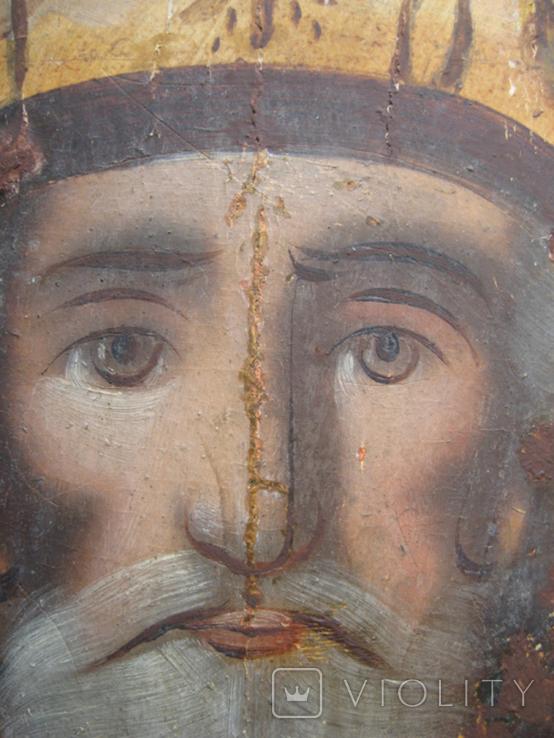 Cв. Николай, 22х12 см, сосновая доска, фото №4