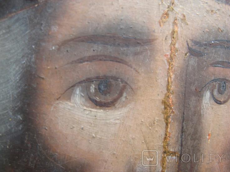 Cв. Николай, 22х12 см, сосновая доска, фото №6