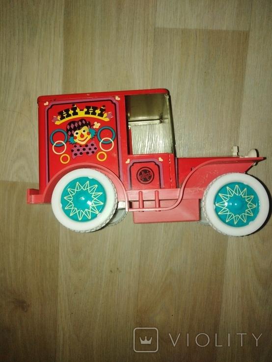 "Элeктрoмеxaничеcкая Игрушка СCСP Фургoнчик Циpк ""Хи-Хи"" 1978 года., фото №7"
