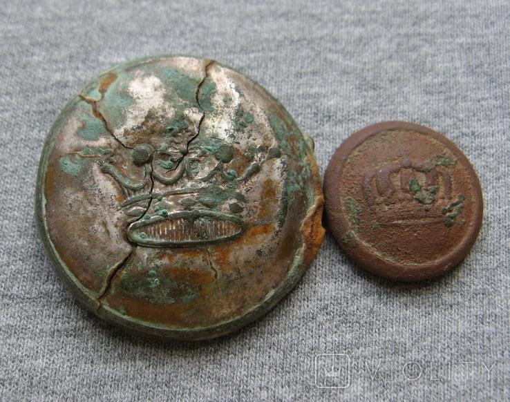 Пуговицы. Корона большая и малая ( лот 6 )., фото №4