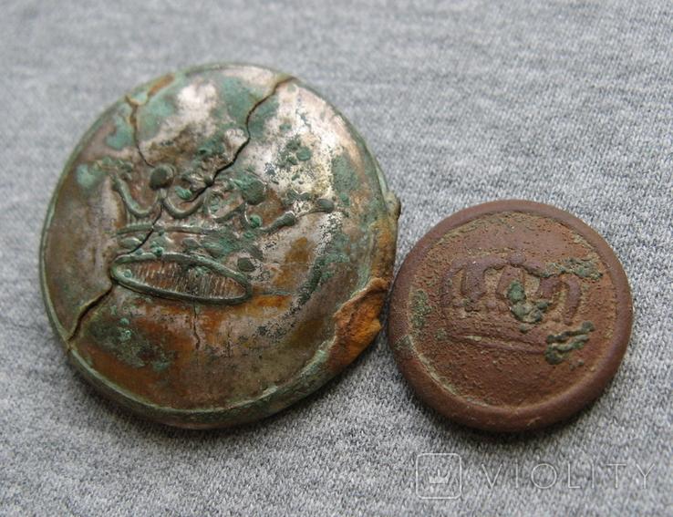 Пуговицы. Корона большая и малая ( лот 6 )., фото №5