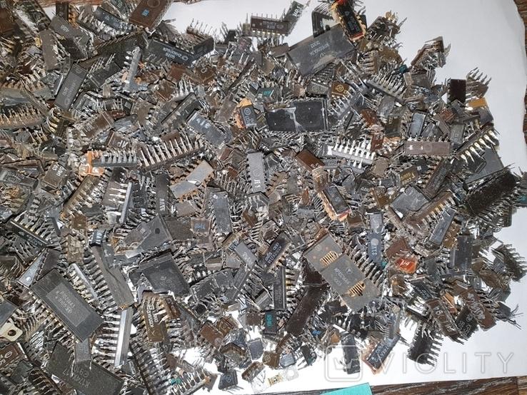 Микросхемы 155,157,174 и другие , позолота , вес 2.031.4г, фото №5