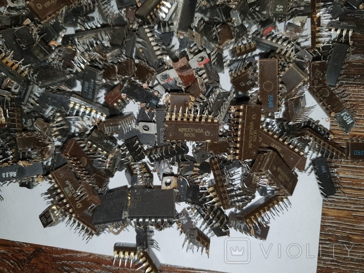 Микросхемы 155,157,174 и другие , позолота , вес 2.031.4г, фото №9