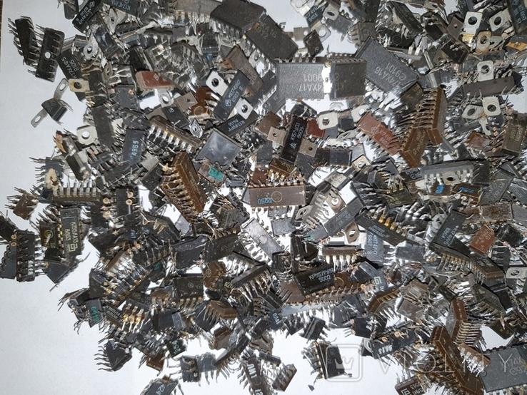 Микросхемы 155,157,174 и другие , позолота , вес 2.031.4г, фото №10
