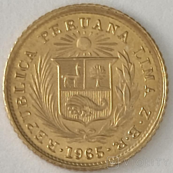 1/5 либры. 1965. Перу (золото 917, вес 1,60 г), фото №13