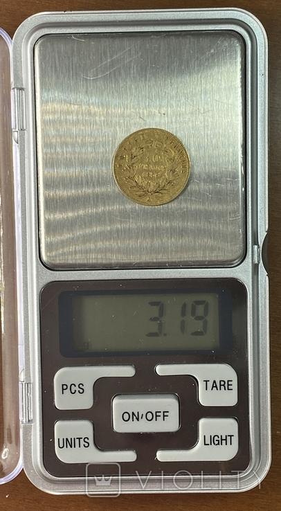 10 франков. 1856. Наполеон III. Франция (золото 900, вес 3,19 г), фото №10