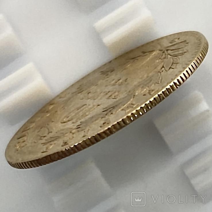 10 франков. 1866. Наполеон III (в венке). Франция (золото 900, вес 3,20 г), фото №9