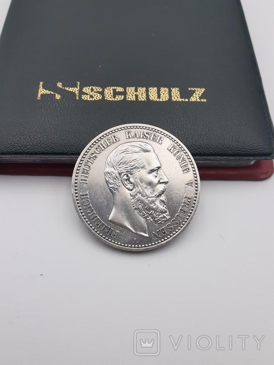 5 марок 1888. Фридрих. Пруссия., фото №2