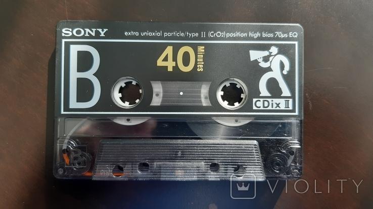 Касета Sony CDix II 40 (Release year: 1991), фото №6