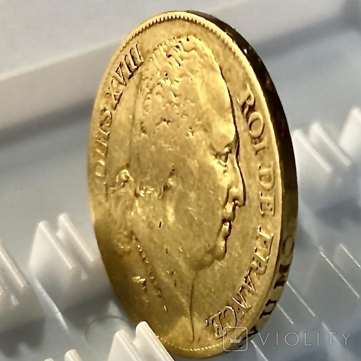 20 франков. 1818. Луи XVIII. Франция (золото 900, вес 6,38 г), фото №8