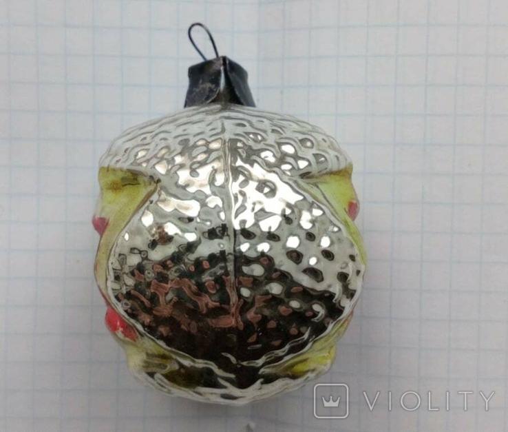 Елочная игрушка Шар со звездой СССР, фото №5