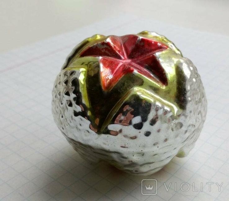 Елочная игрушка Шар со звездой СССР, фото №6
