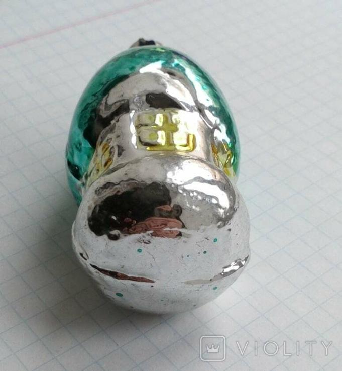 Елочная игрушка Домик- грибок с зеленой крышей СССР 6см, фото №6